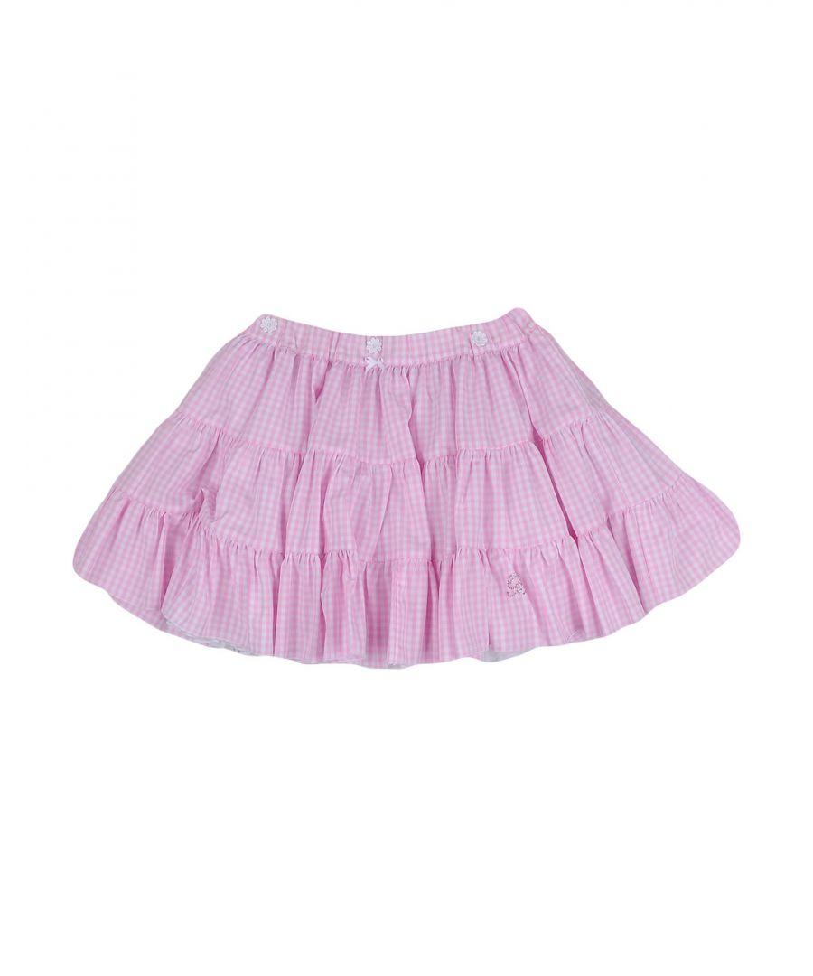 Image for Miss Blumarine Pink Girl Cotton Skirt