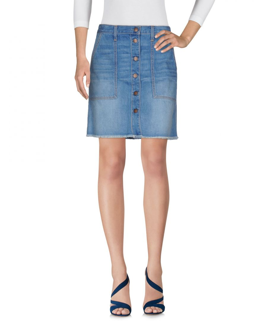 Image for Current/Elliott Blue Denim Mini Skirt