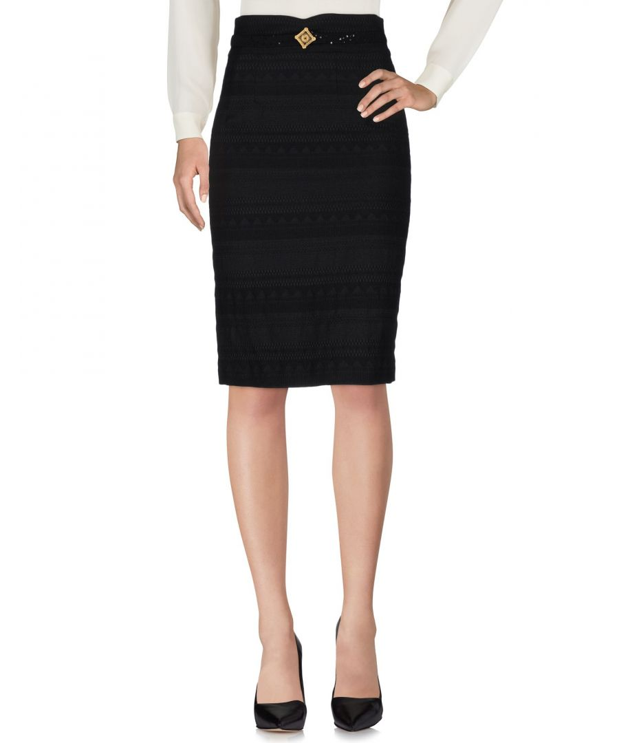 Image for Cavalli Class Black Wool Knee Length Skirt