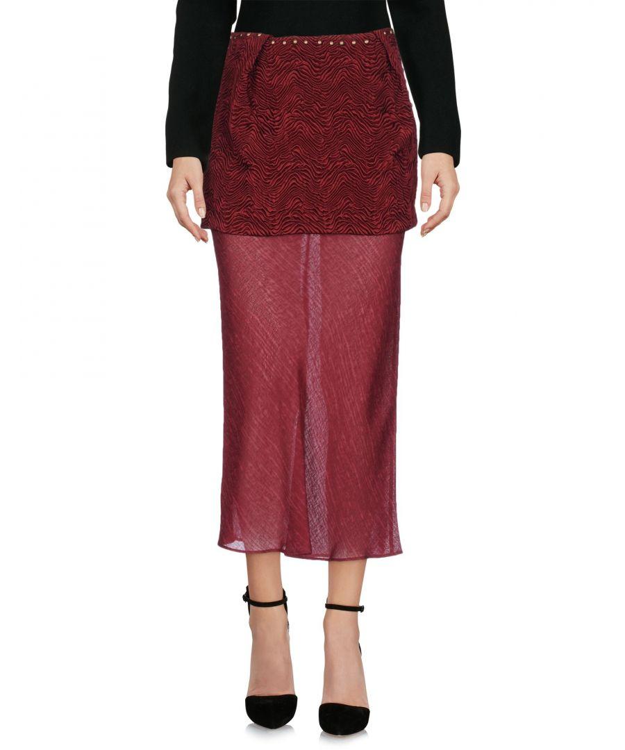Image for Maison Margiela Maroon Wool Jacquard Skirt
