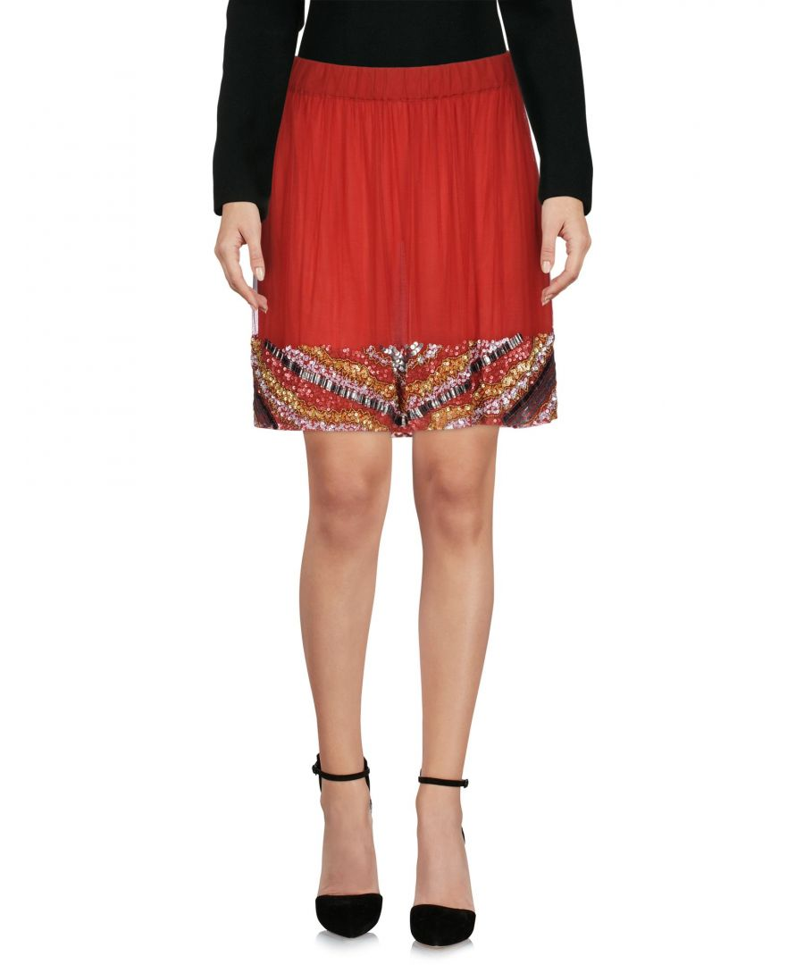 Image for SKIRTS Manila Grace Denim Maroon Woman Polyester