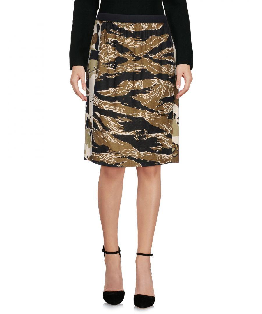 Image for Golden Goose Deluxe Brand Military Green Print Jacquard Skirt