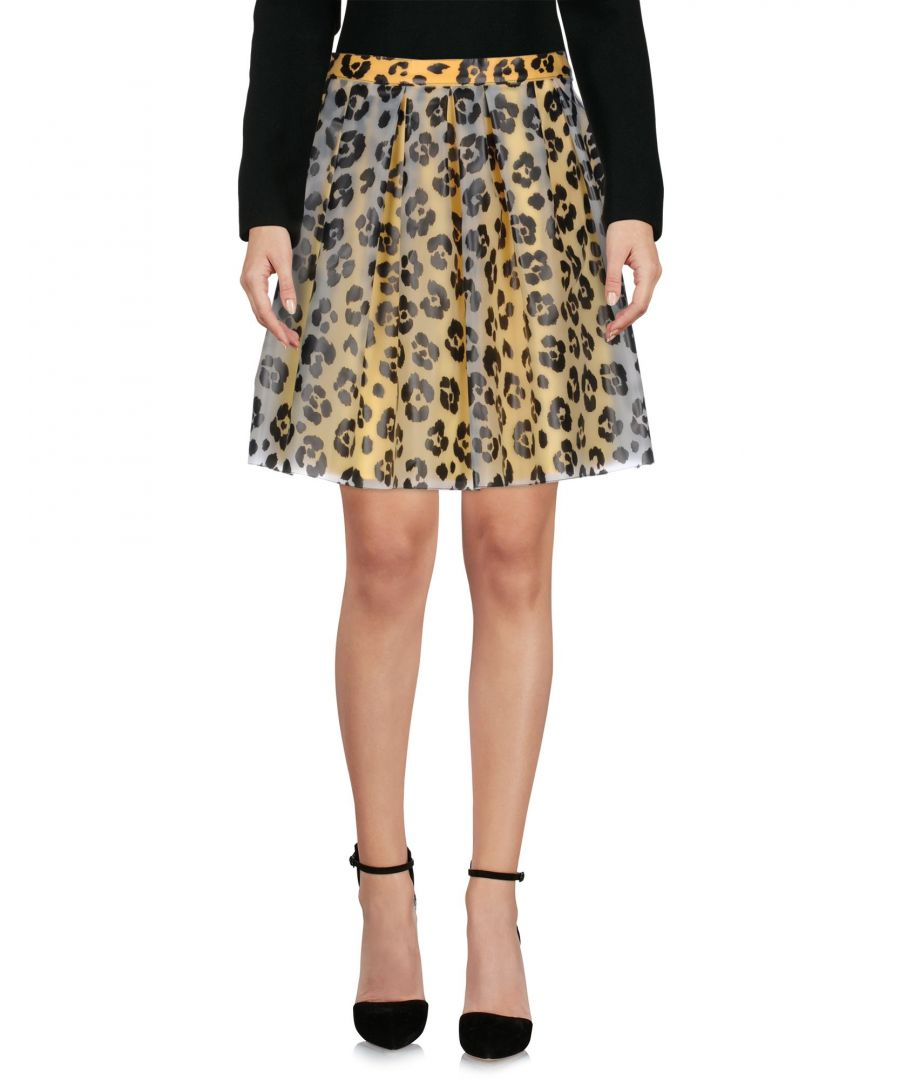 Image for Moschino Cheap And Chic Yellow Animal Print Skirt