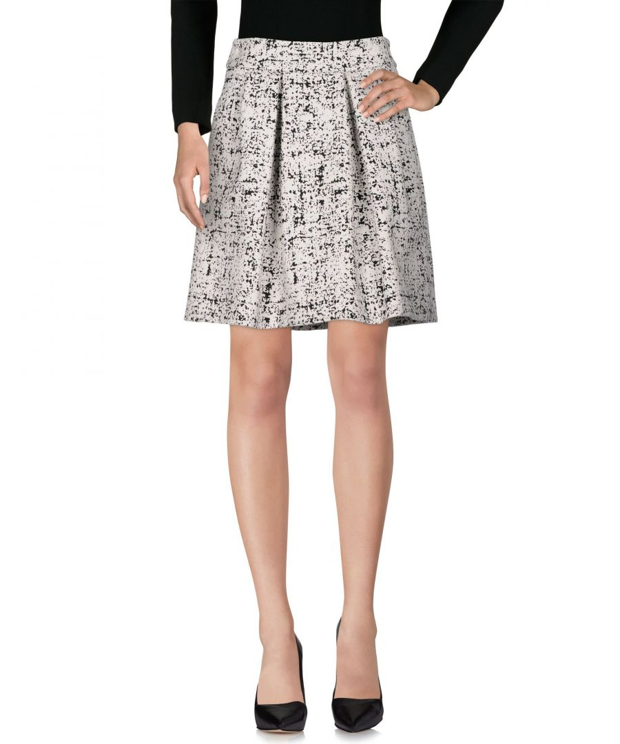 Image for Emporio Armani Ivory Pleated Skirt