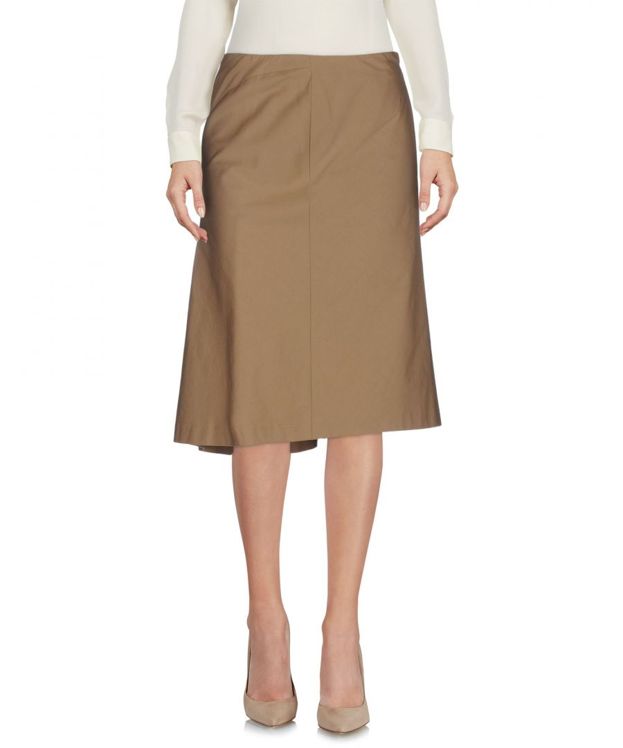 Image for Boule De Neige Beige Cotton Knee Length Skirt