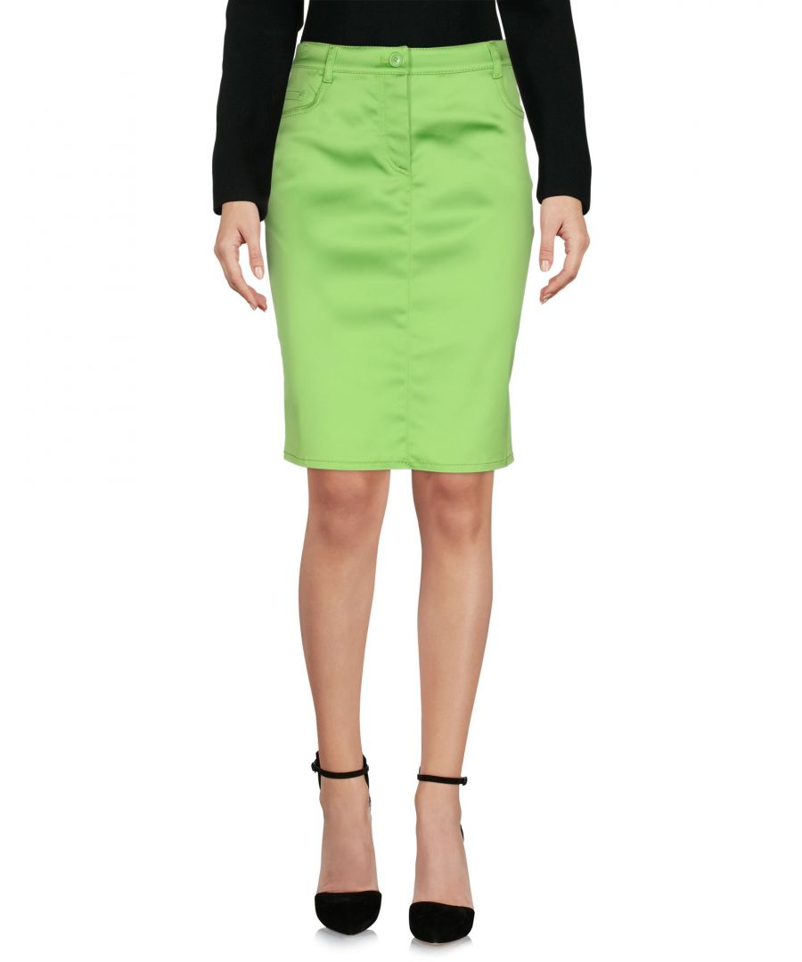Image for Moschino Cheap And Chic Light Green Satin Skirt