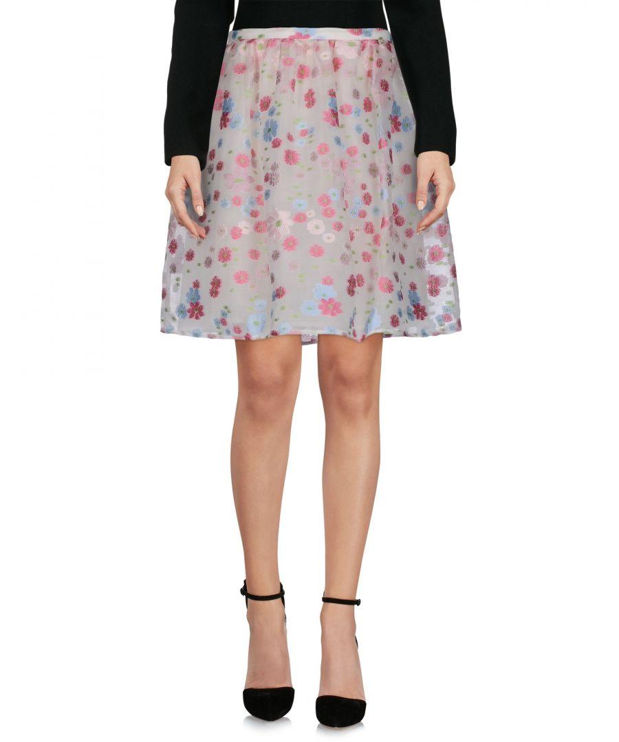 Image for Redvalentino Pink Print Organza Skirt