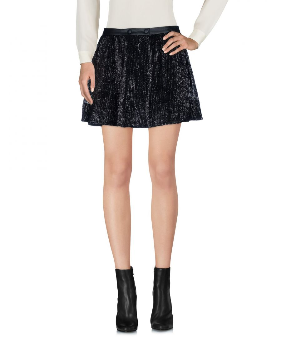 Image for Maje Black Faux Leather Skirt