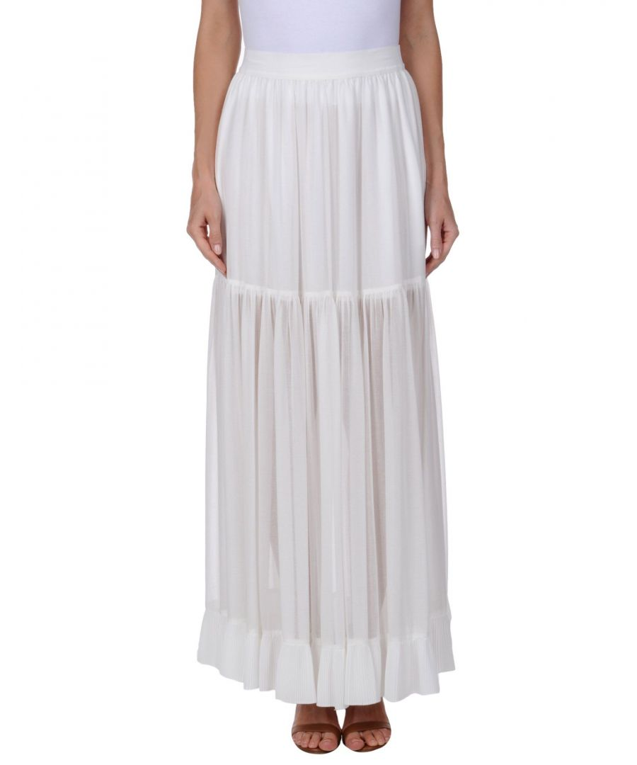 Image for Pinko White Cotton Full Length Skirt