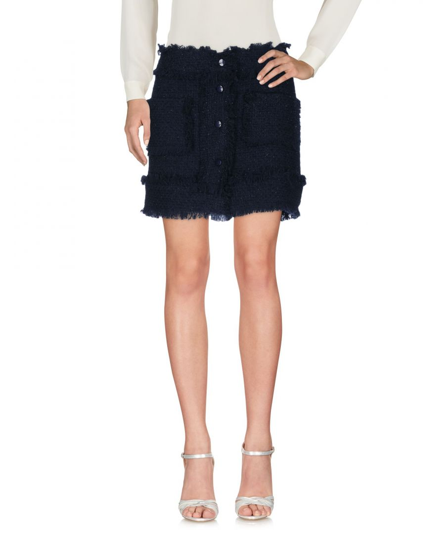Image for Ki6? Who Are You? Dark Blue Virgin Wool Skirt