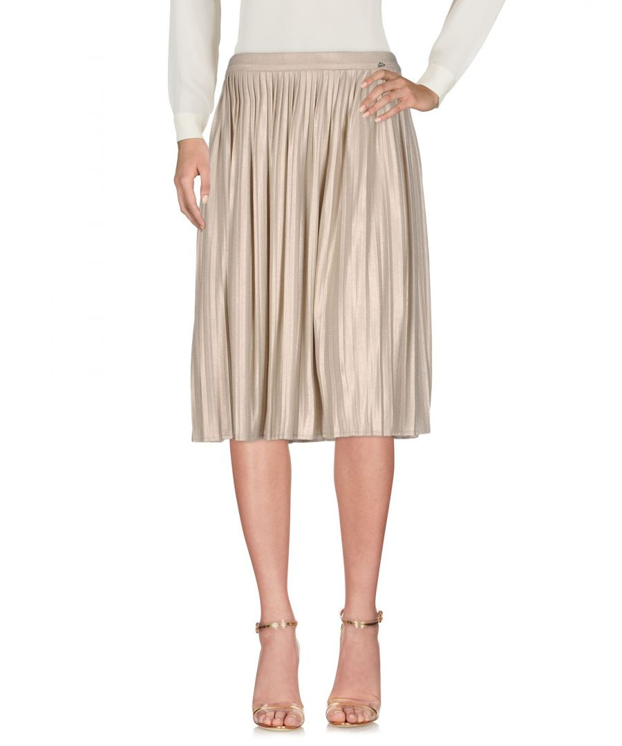 Image for Liu Jo Beige Pleated Knee Length Skirt