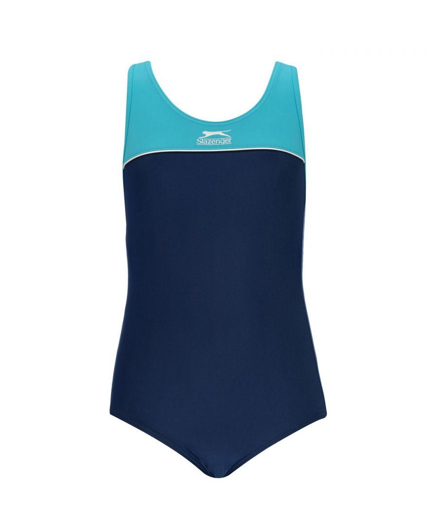 Image for Slazenger Kids Racer Back Swimming Suit Junior Girls Swimwear Swim Swimsuit