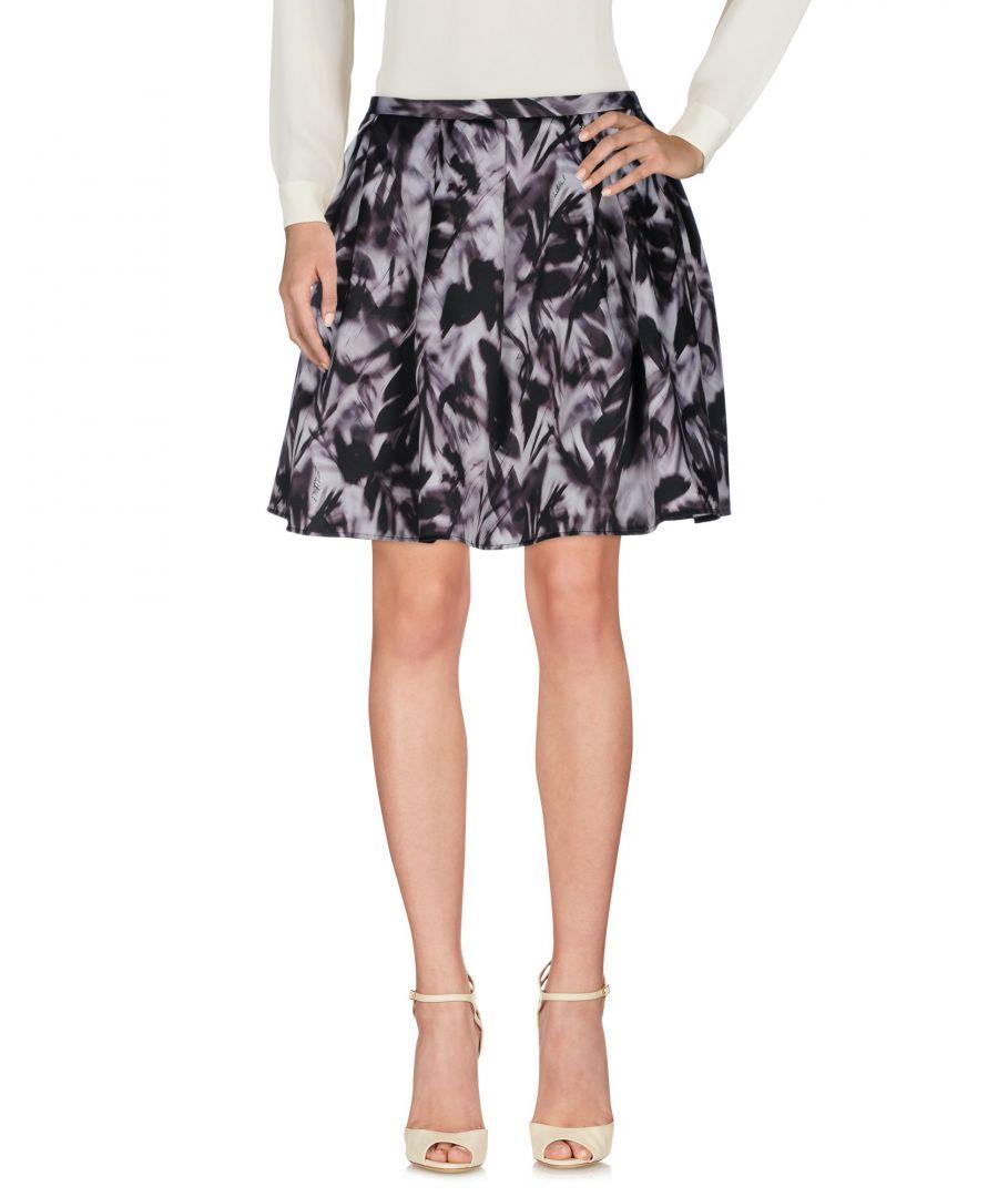 Image for Elisabetta Franchi Light Grey Print Skirt