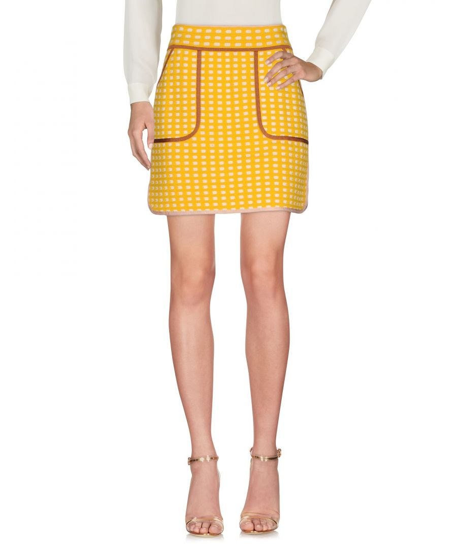 Image for M Missoni Yellow Cotton Knit Skirt