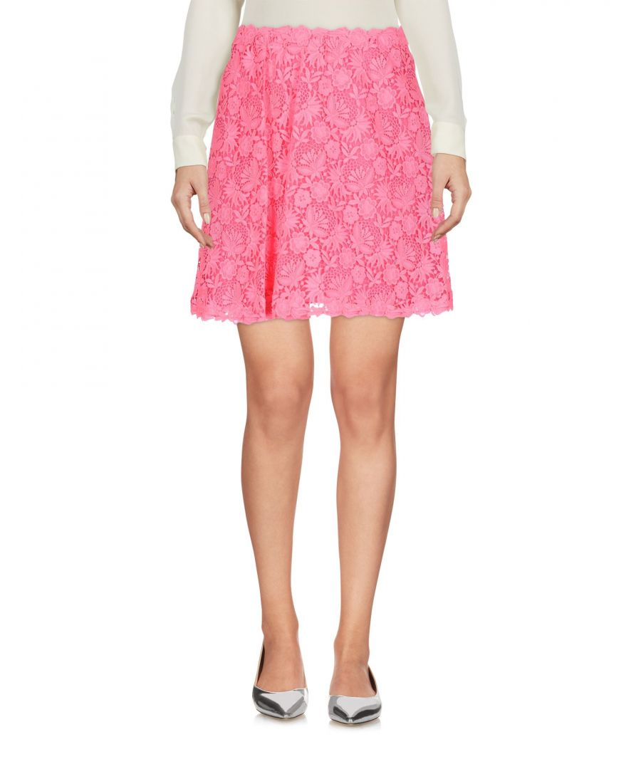 Image for Valentino Fuchsia Lace Skirt