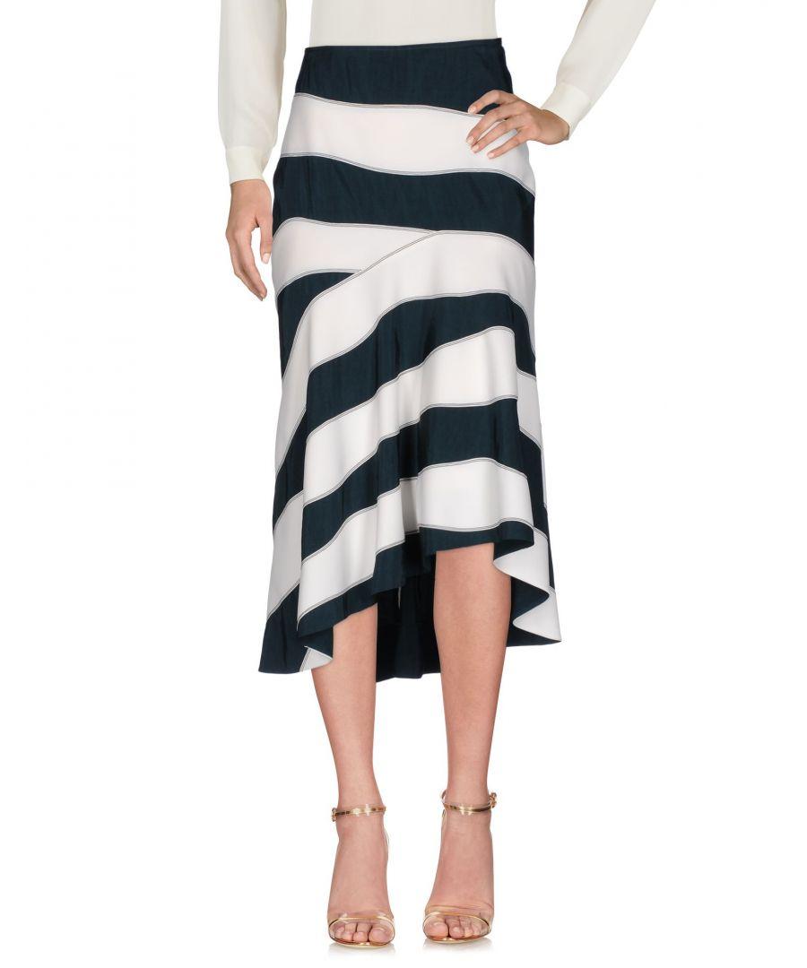 Image for Cedric Charlier Dark Green Stripe Skirt