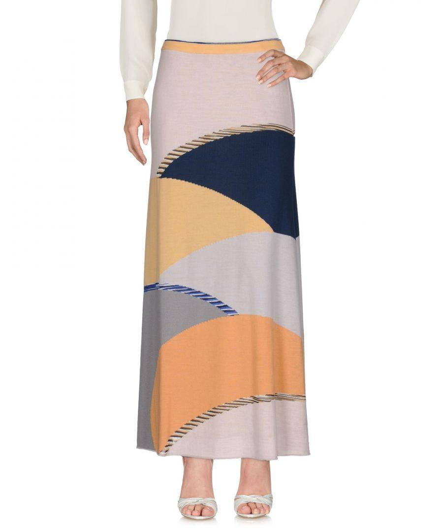 Image for Missoni Sport Light Pink Wool Knit Full Length Skirt