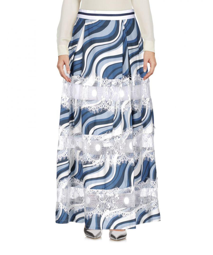 Image for Ainea Azure Cotton Full Length Skirt