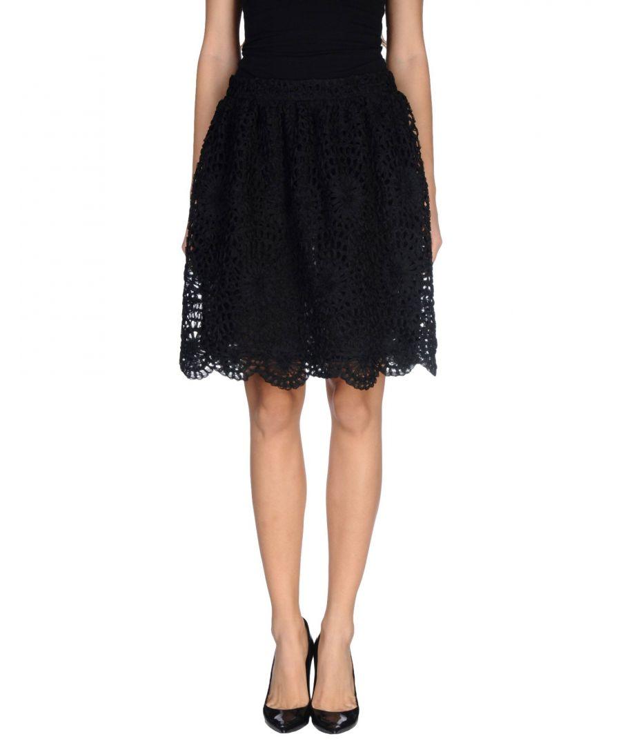 Image for L' Autre Chose Black Knee Length Skirt
