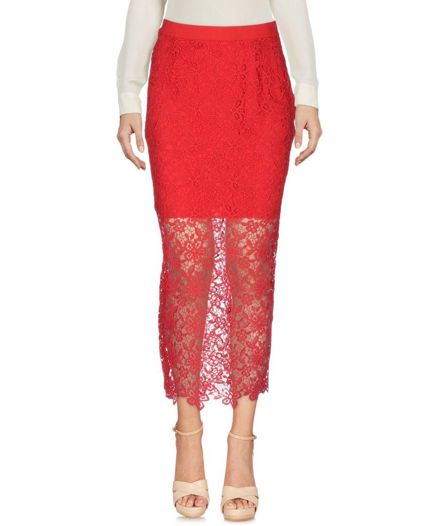 Image for Ermanno Di Ermanno Scervino Red Lace Skirt