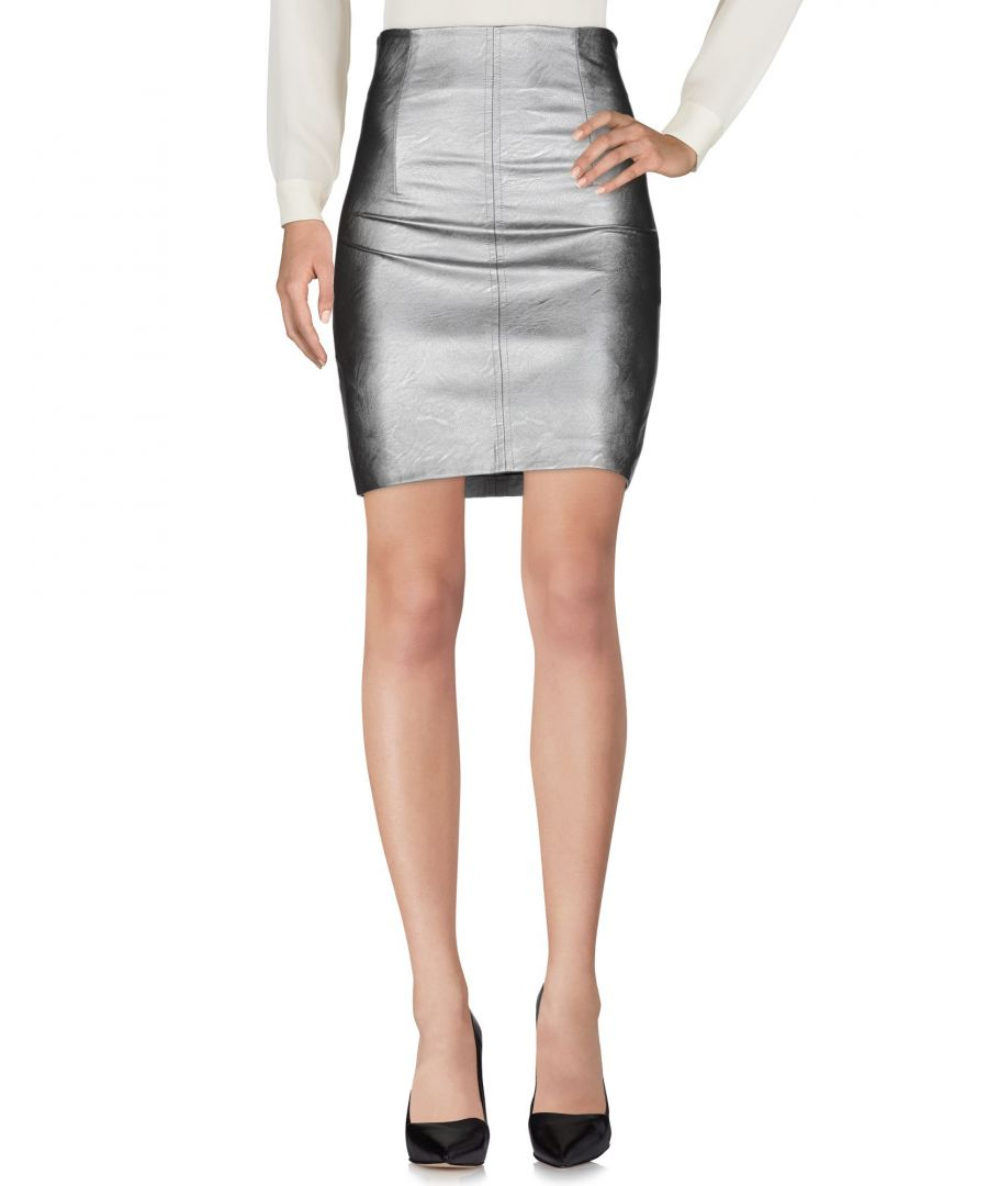 Image for Kaos Jeans Grey Faux Leather Short Skirt