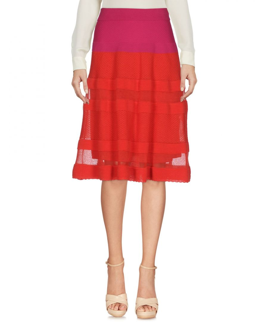 Image for M Missoni Red Cotton Jacquard Skirt
