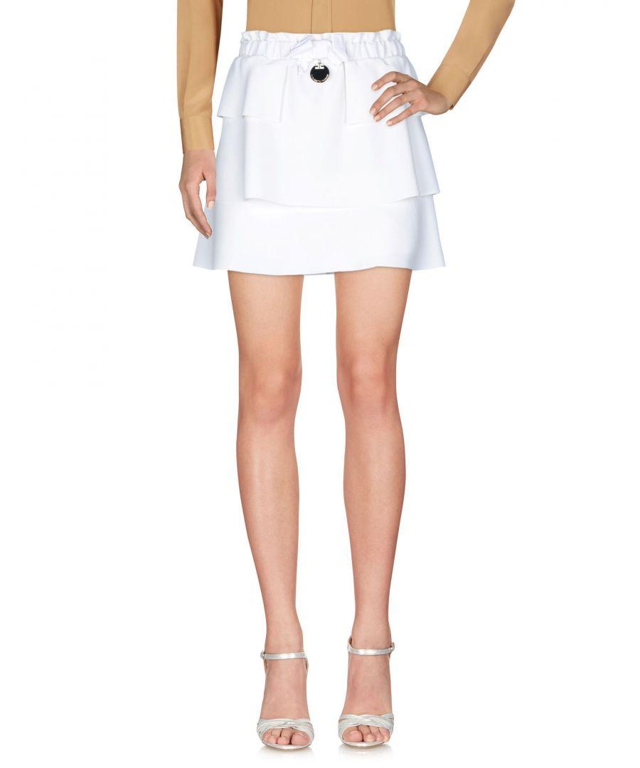 Image for Elisabetta Franchi White Crepe Skirt