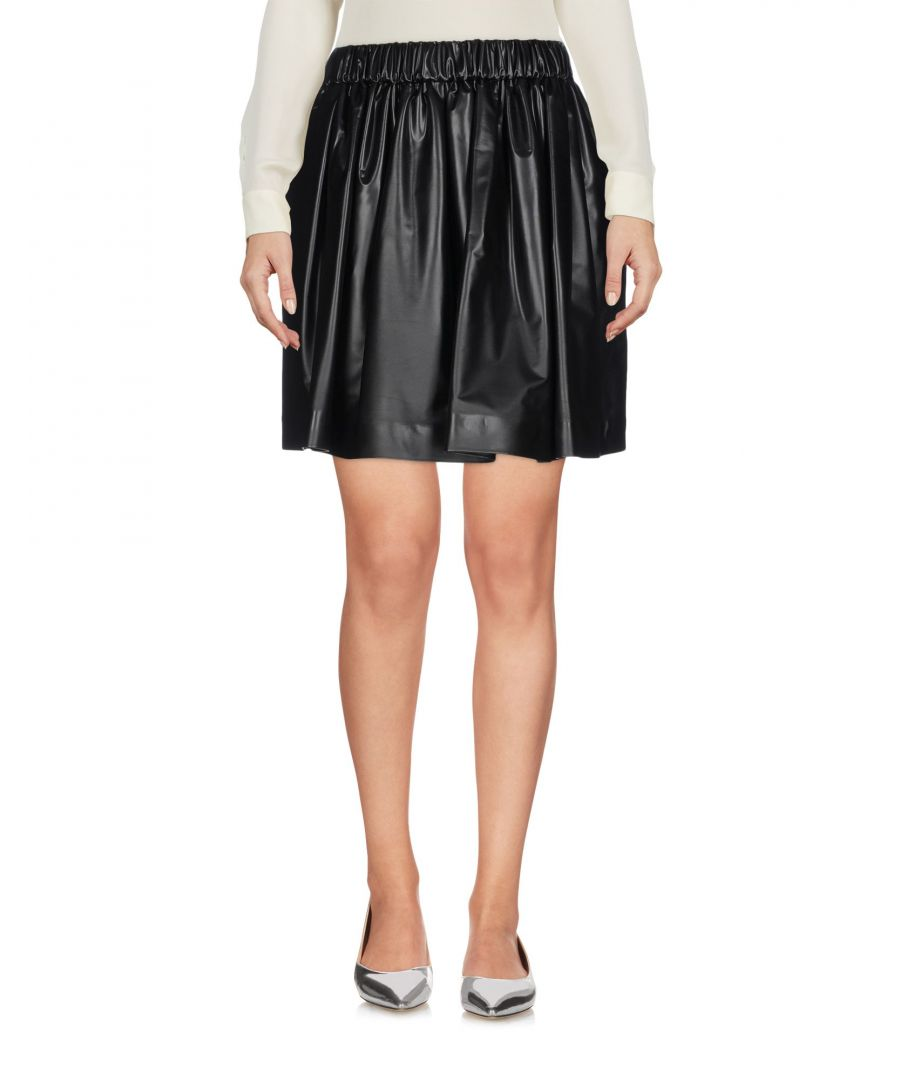 Image for MSGM Black Coated Jersey Skirt