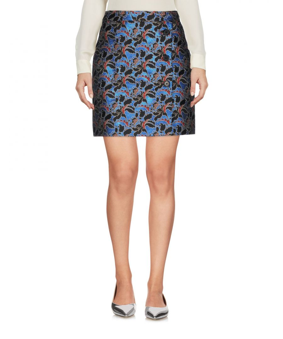 Image for MSGM Blue Floral Jacquard Skirt
