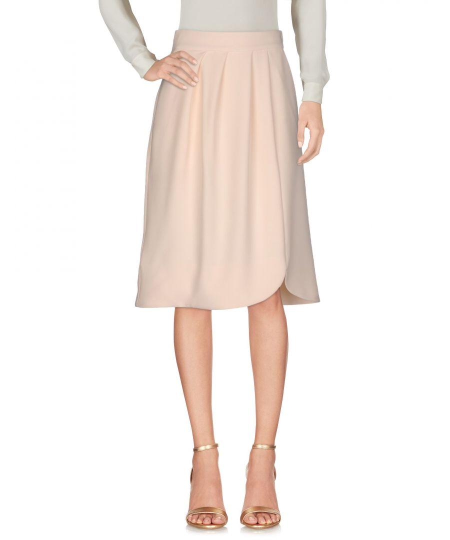 Image for Alex Vidal Beige Crepe Skirt