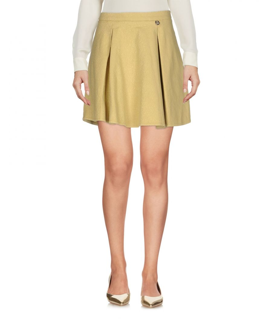Image for Met Jeans Ochre Cotton Jacquard Skirt