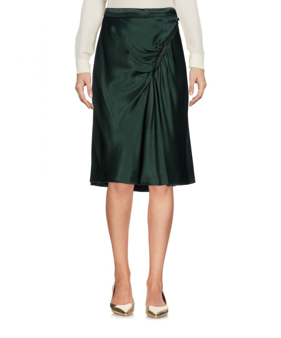 Image for Moschino Cheap And Chic Dark Green Satin Skirt