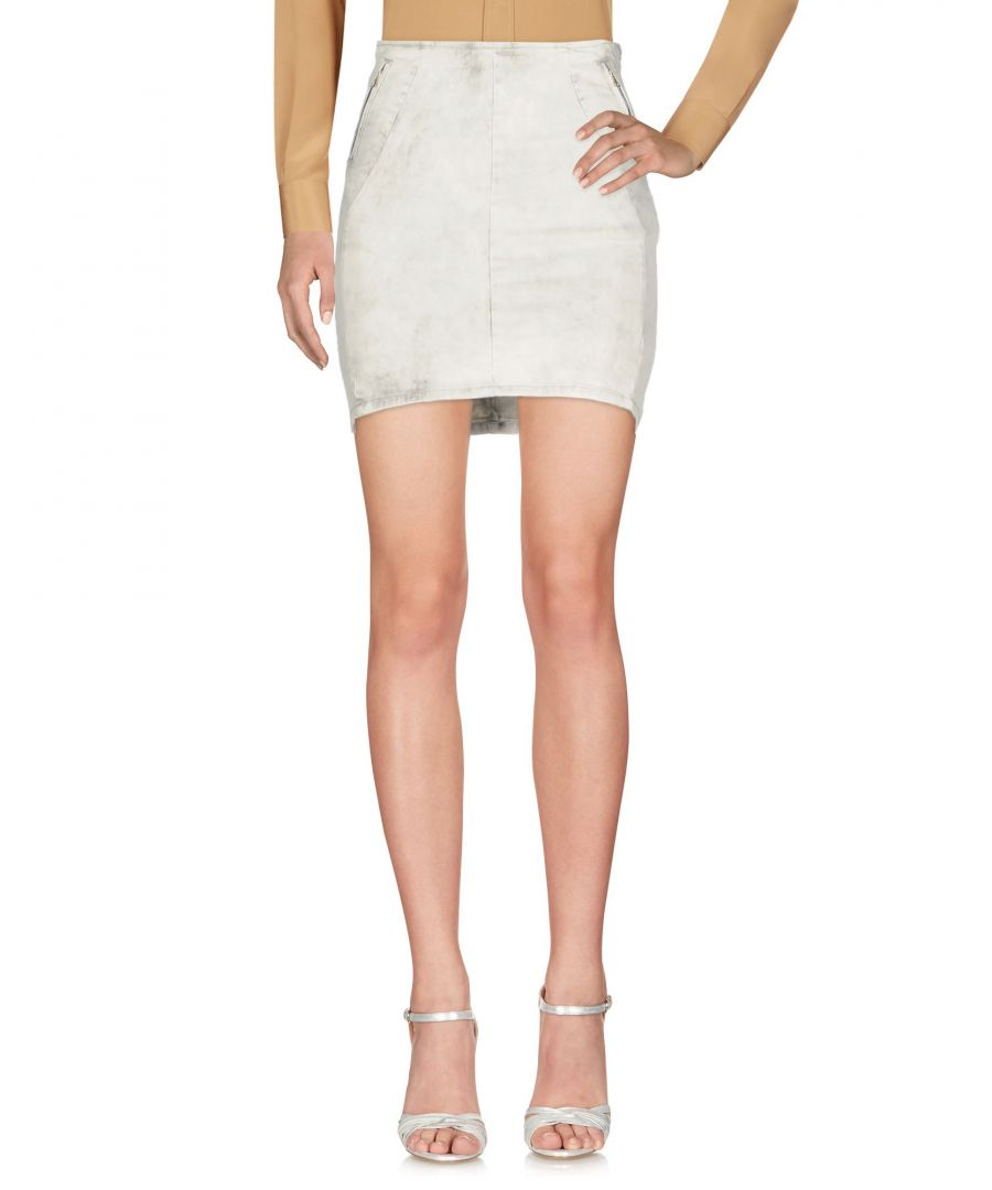 Image for Pepe Jeans Ivory Cotton Skirt