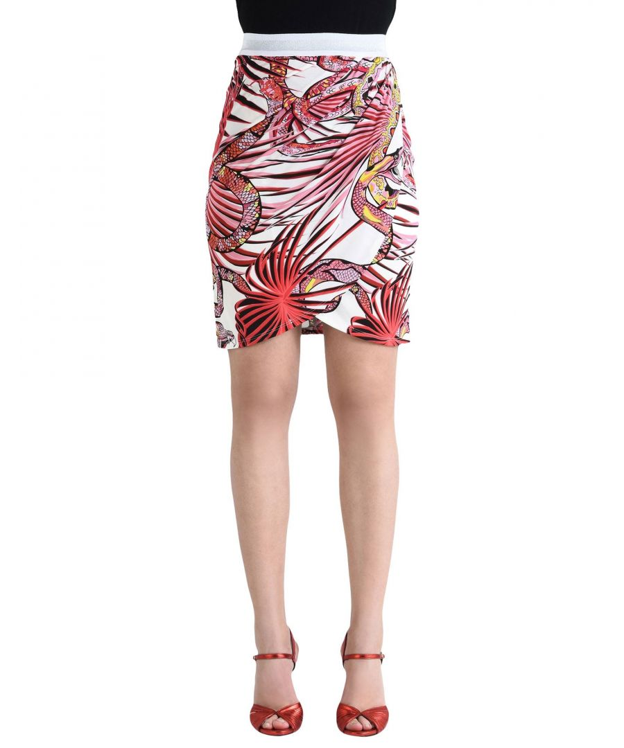 Image for Just Cavalli Red Print Skirt