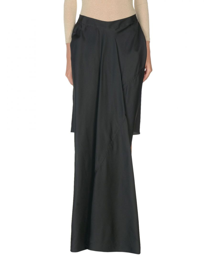 Image for Rick Owens Black Silk Full Length Skirt