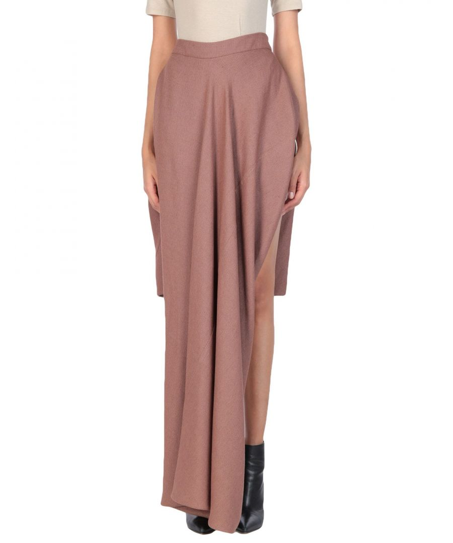 Image for Rick Owens Cocoa Silk Full Length Skirt