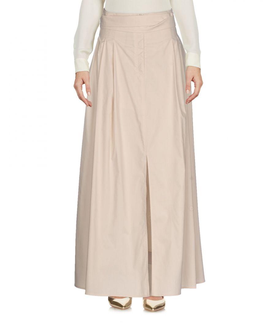 Image for Gentryportofino Sand Cotton Full Length Skirt