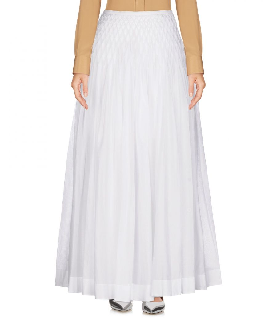 Image for Ermanno Scervino White Cotton Full Length Skirt