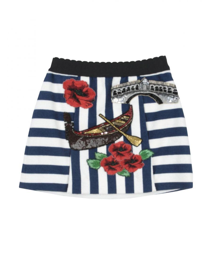 Image for Girls' Dolce & Gabbana Blue Cotton Skirt
