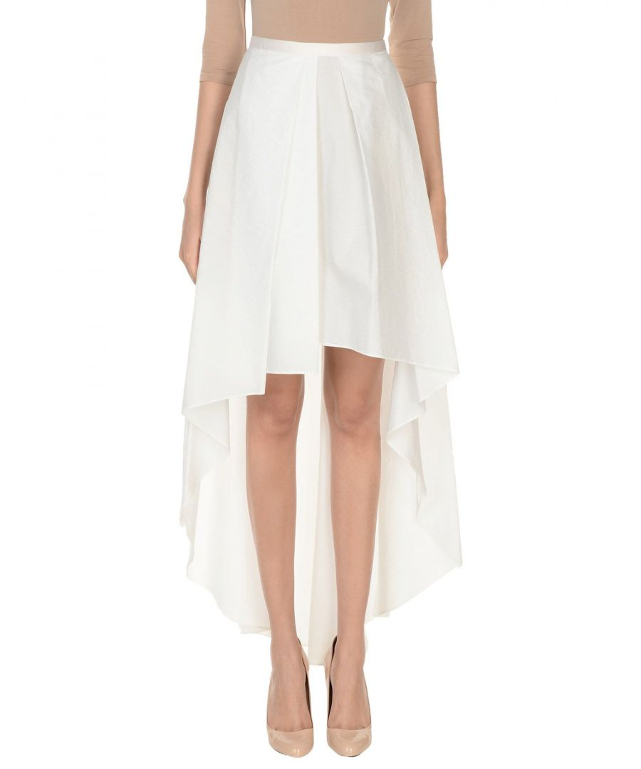 Image for Brunello Cucinelli Ivory Cotton Maxi  High Low Skirt