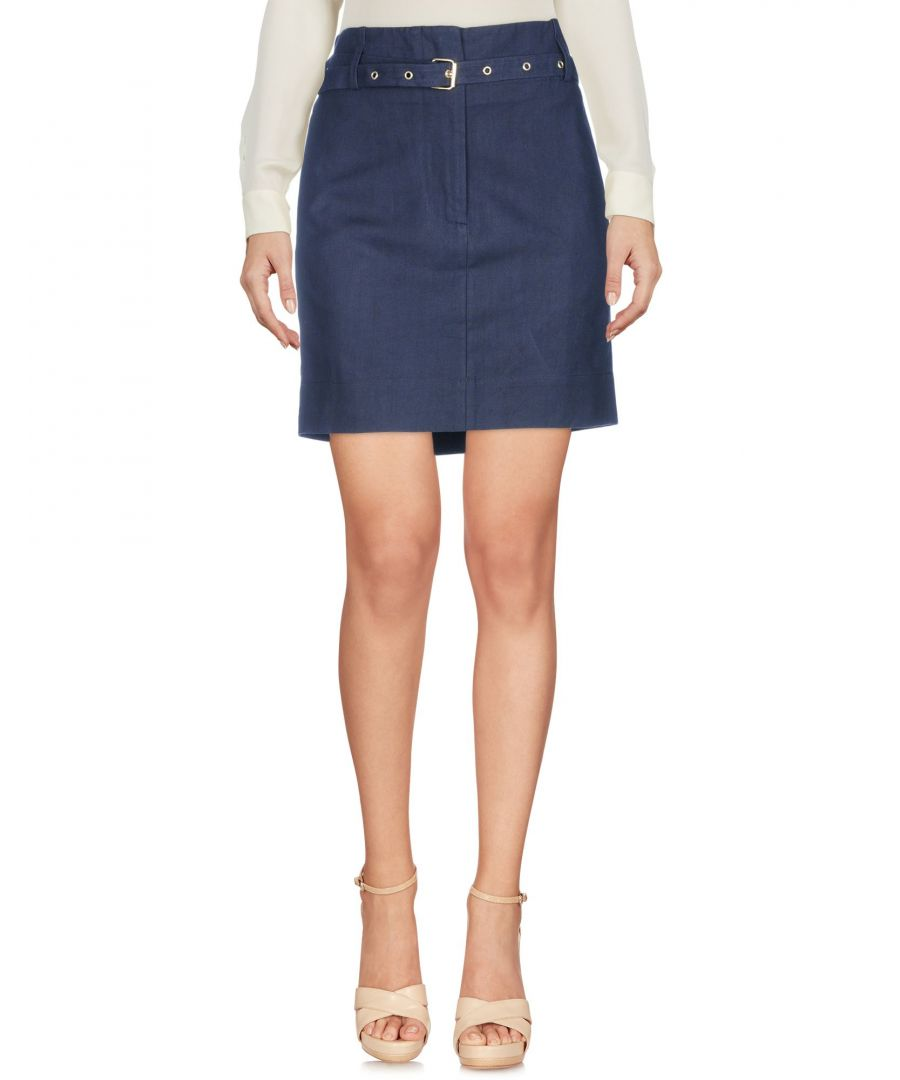 Image for Jucca Dark Blue Linen Mini Skirt
