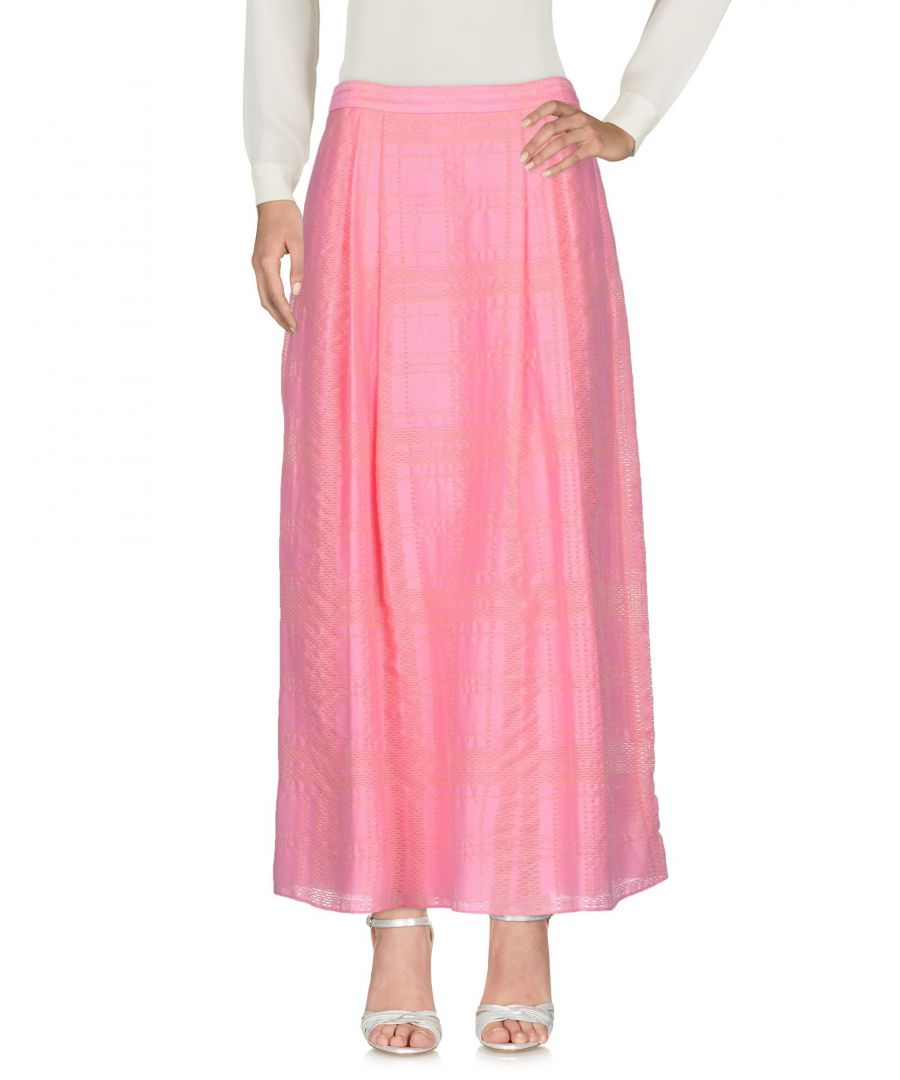 Image for Emporio Armani Pink Cotton Full Length Skirt