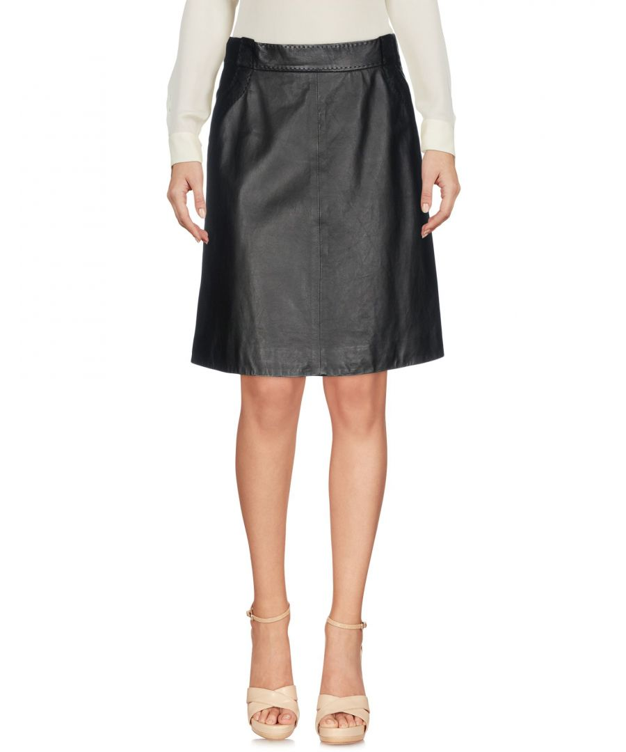 Image for Emporio Armani Black Lambskin Skirt