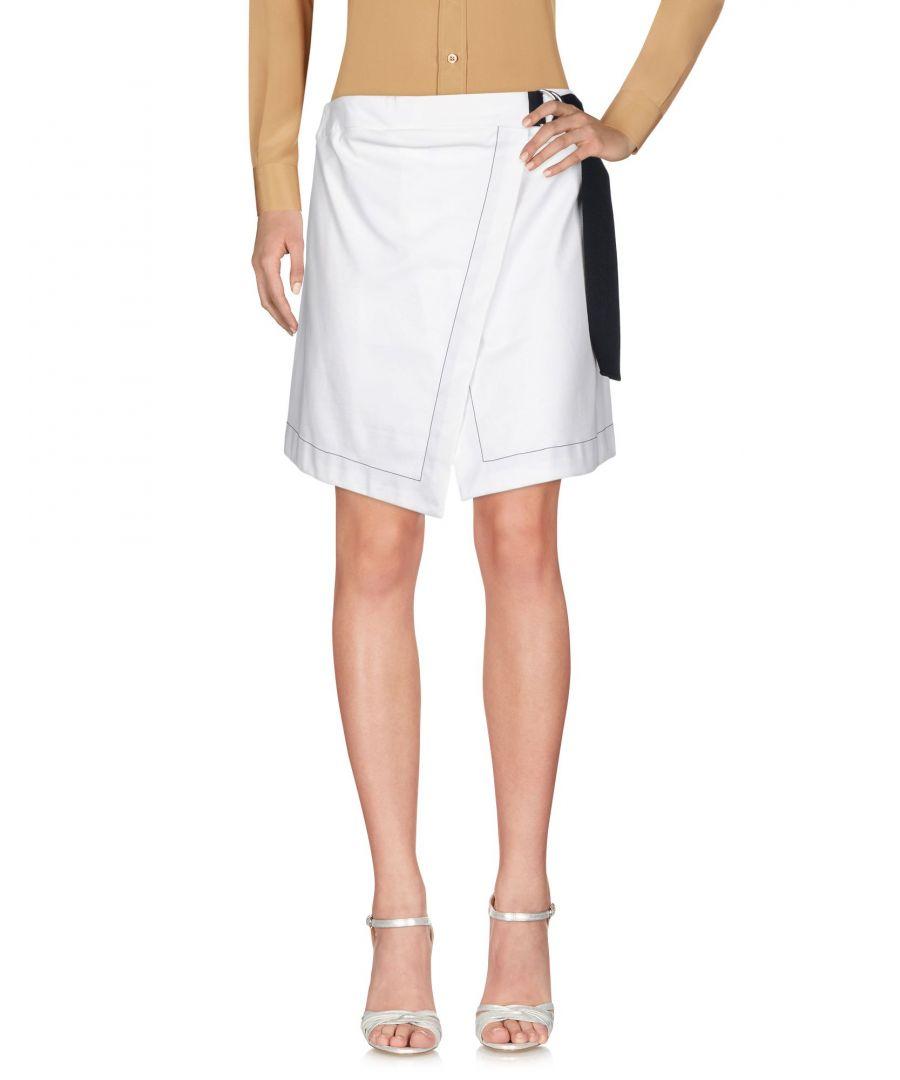 Image for Erika Cavallini White Cotton Skirt