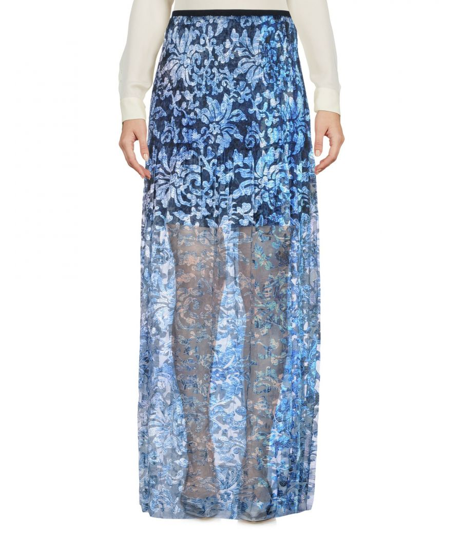 Image for SKIRTS Elie Tahari Blue Woman Polyester