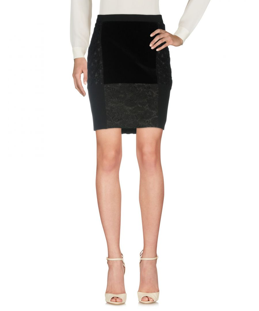 Image for Moschino Cheap And Chic Black Cotton Lace And Crepe Skirt