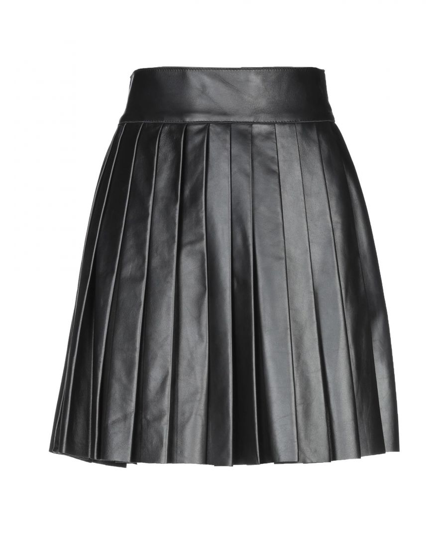 Image for Dsquared2 Black Pleated Leather Skirt
