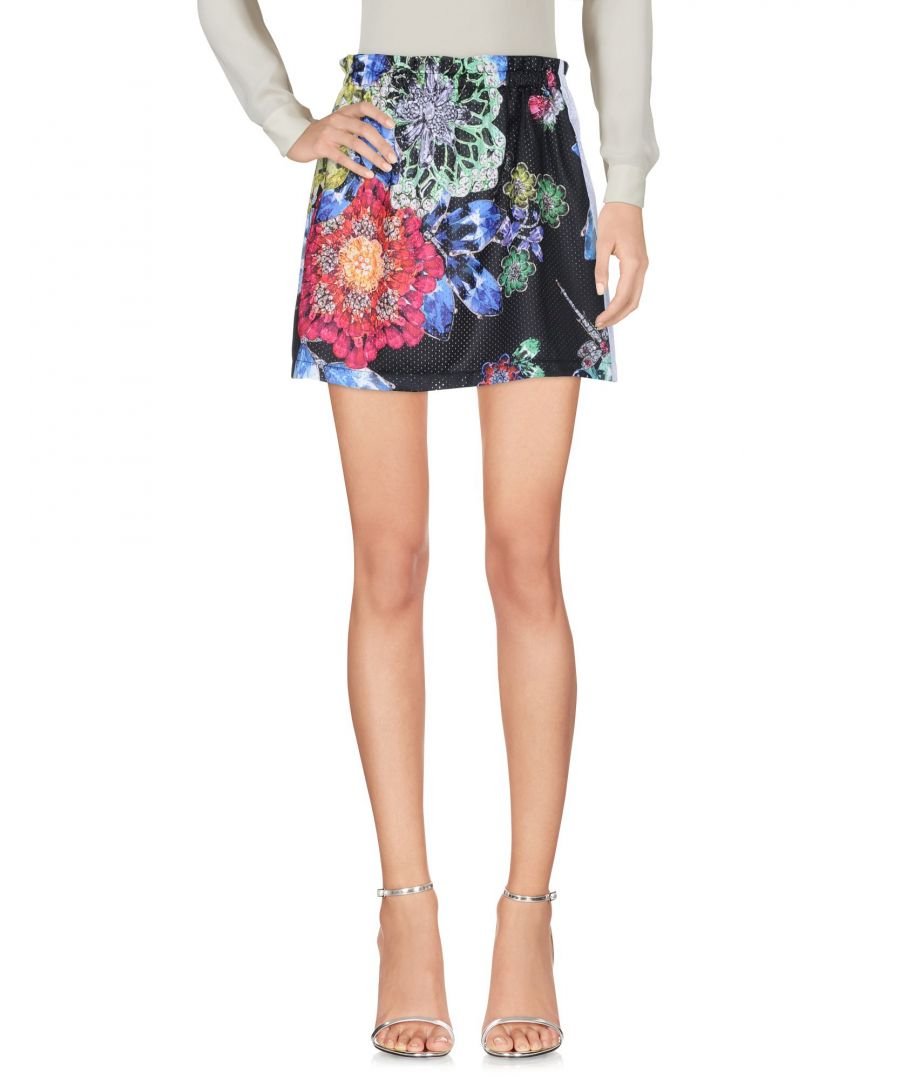 Image for Gaelle Paris Black Floral Print Skirt