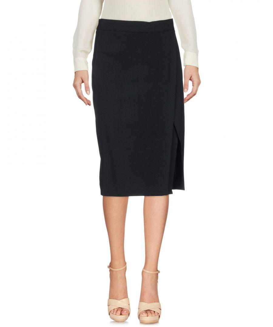 Image for DKNY Black Wool Knee Length Skirt