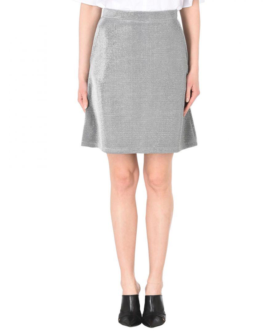 Image for Être Cécile Silver Neoprene Skirt